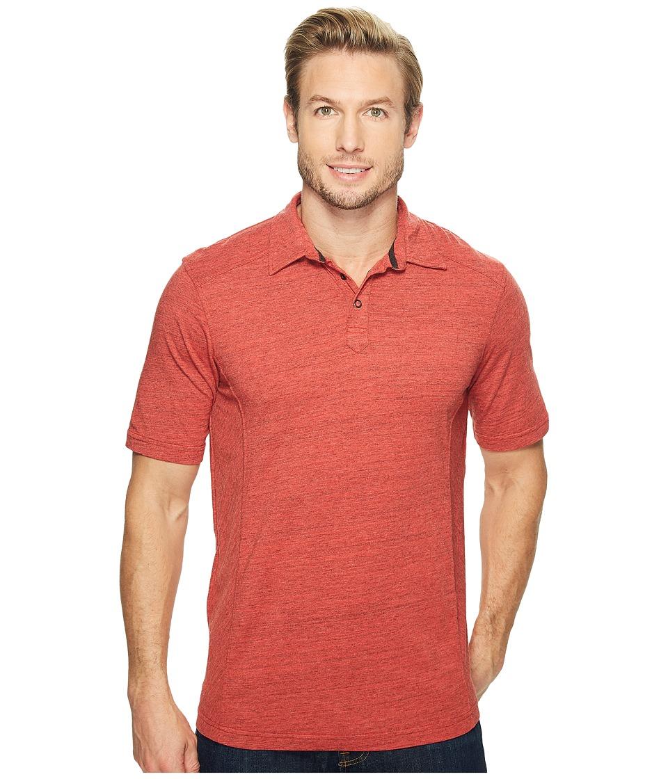Ecoths - Baxter Polo Shirt (Cranberry) Men's Short Sleeve Knit