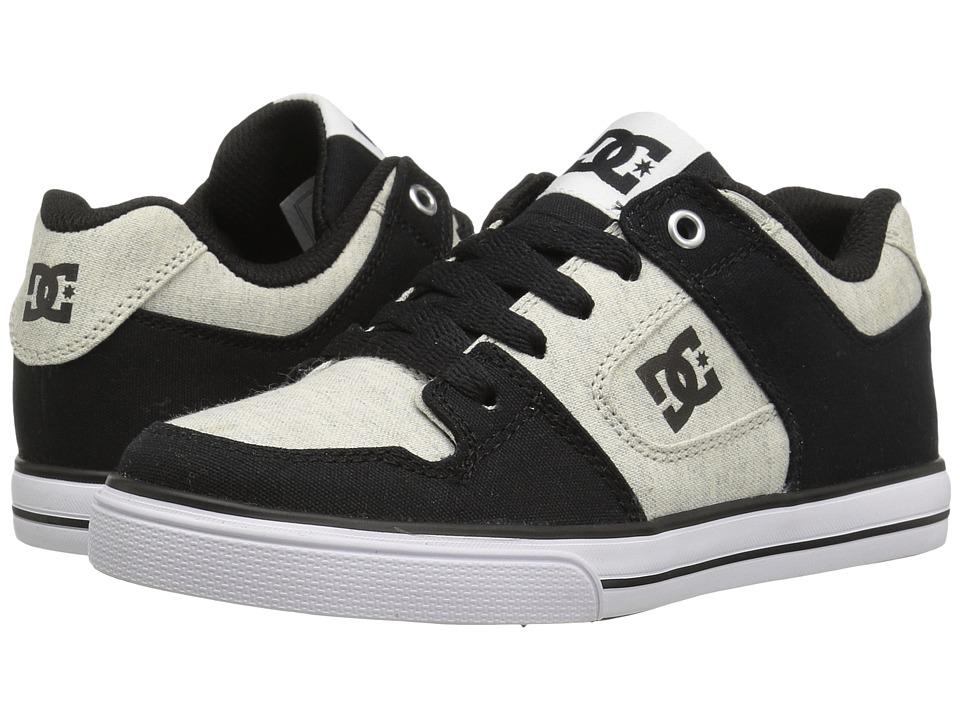 DC Kids - Pure TX SE (Little Kid/Big Kid) (Black/White/Black) Boys Shoes