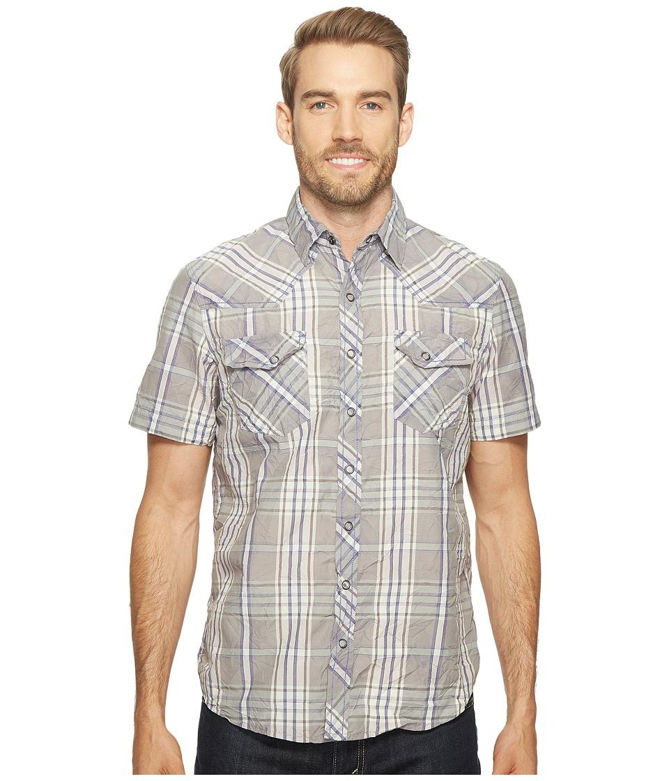 Ecoths - Donovan Short Sleeve Shirt (Griffin Grey) Men's Short Sleeve Button Up