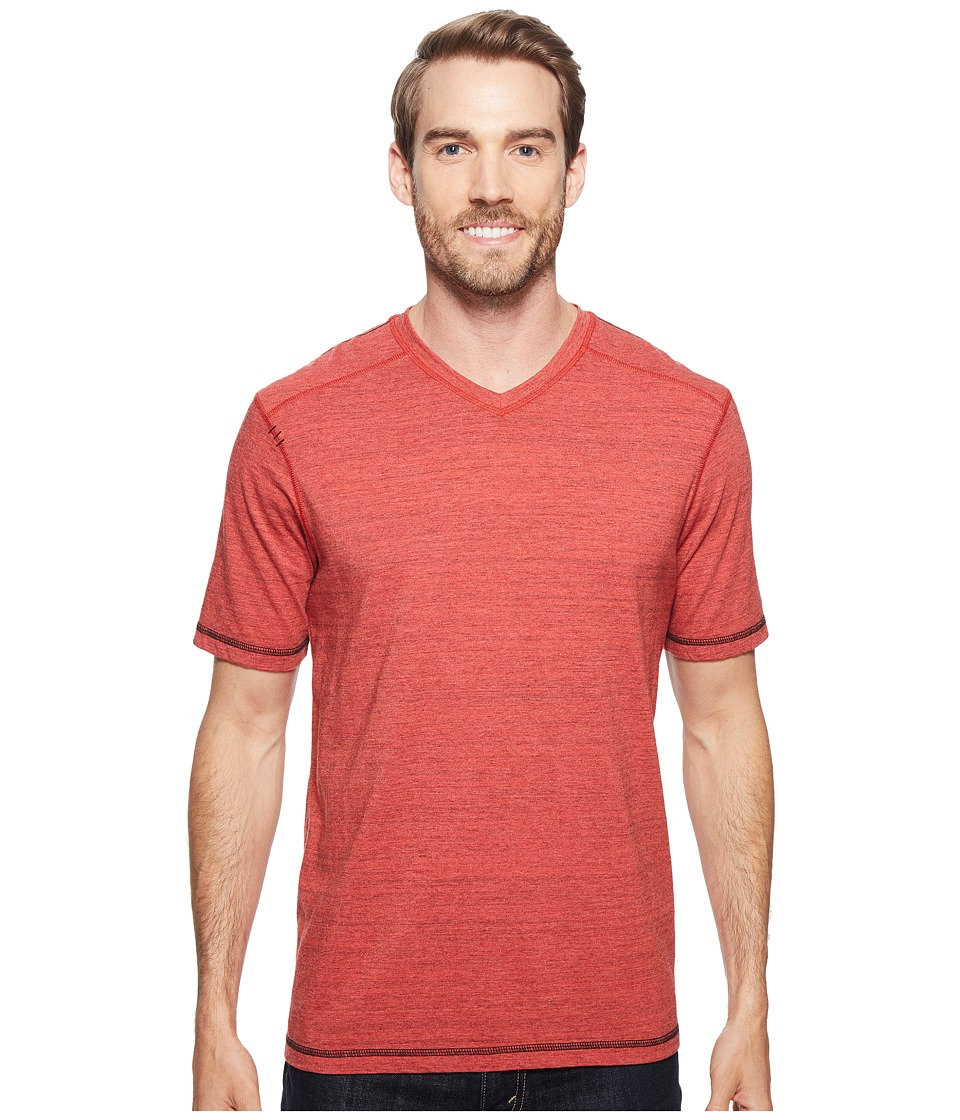 Ecoths - Newman V-Neck Shirt (Cranberry) Men's T Shirt