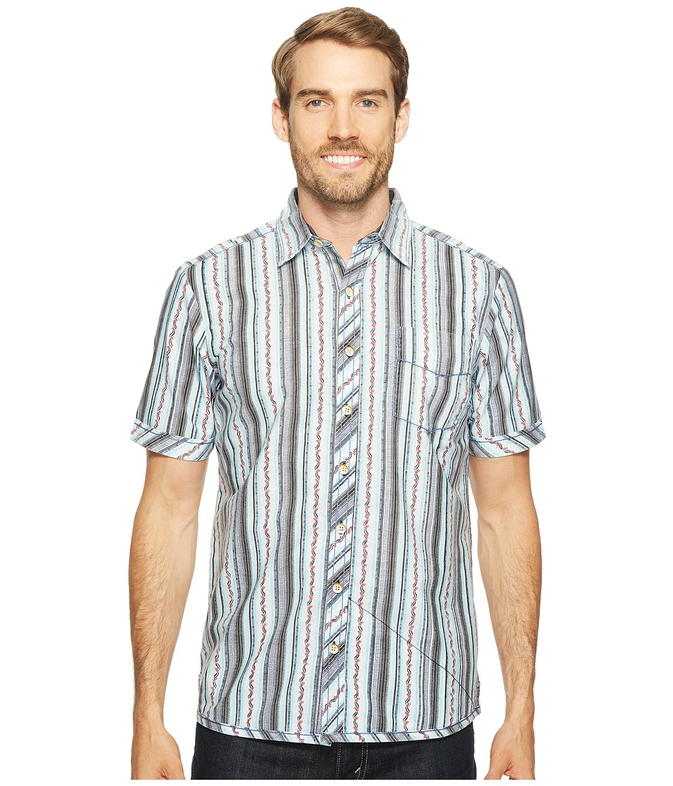 Ecoths - Santiago Short Sleeve Shirt (Coastal Fjord) Men's Short Sleeve Button Up