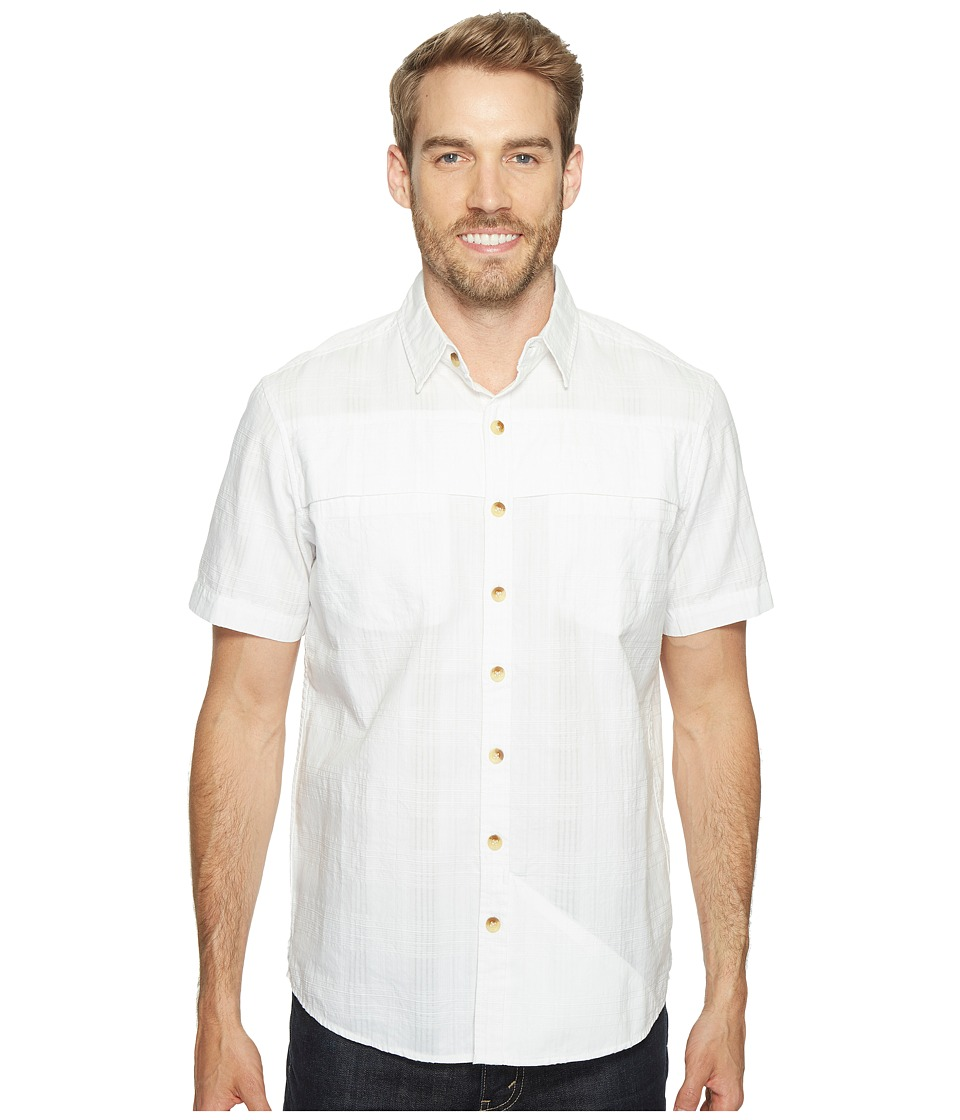 Ecoths - Travis Short Sleeve Shirt (White) Men's Short Sleeve Button Up