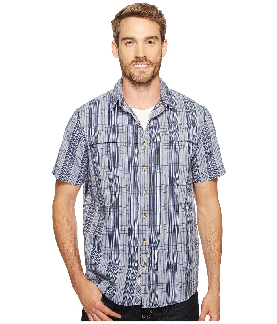 Ecoths - Travis Short Sleeve Shirt (Vintage Indigo) Men's Short Sleeve Button Up