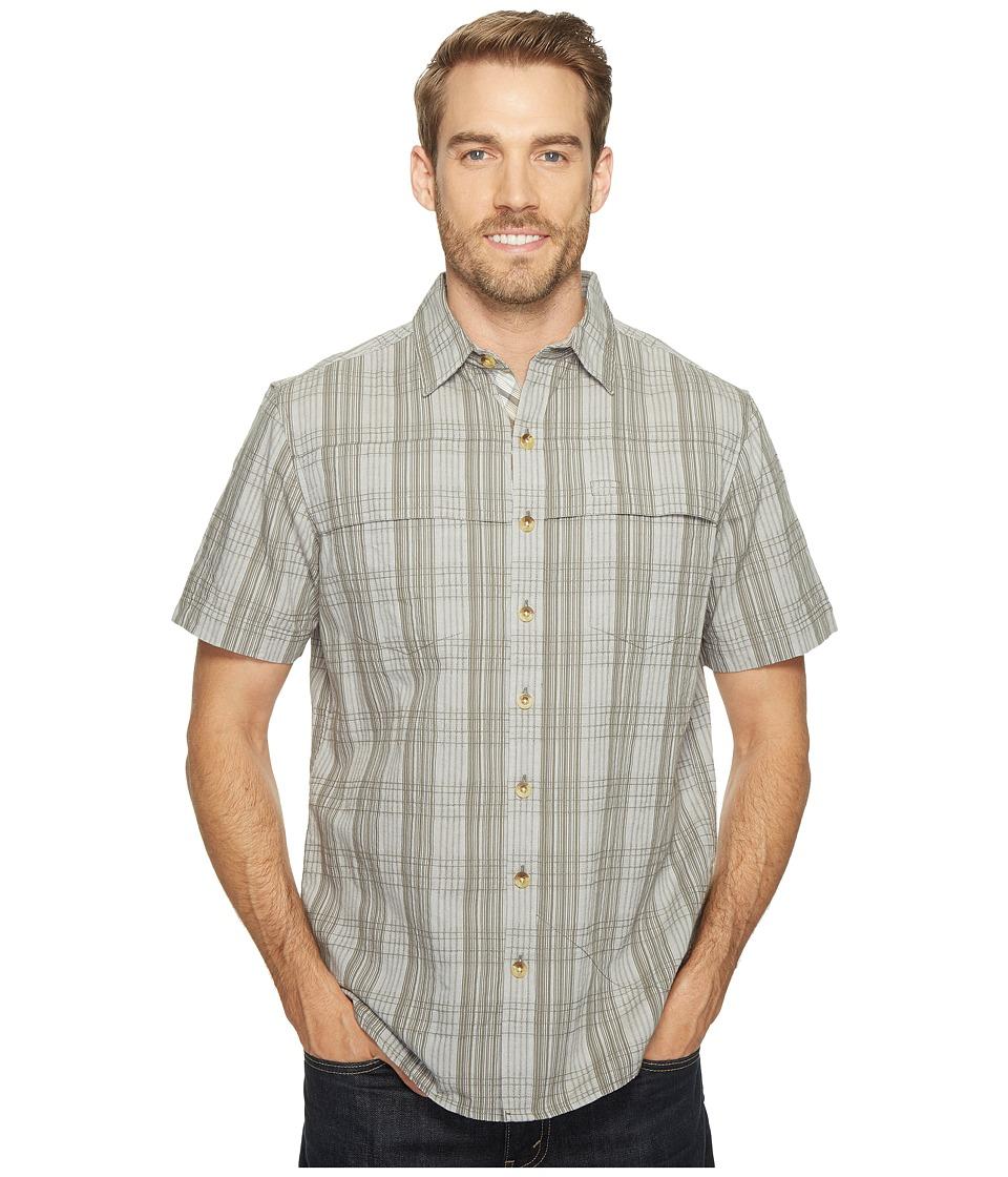 Ecoths - Travis Short Sleeve Shirt (Agave Green) Men's Short Sleeve Button Up