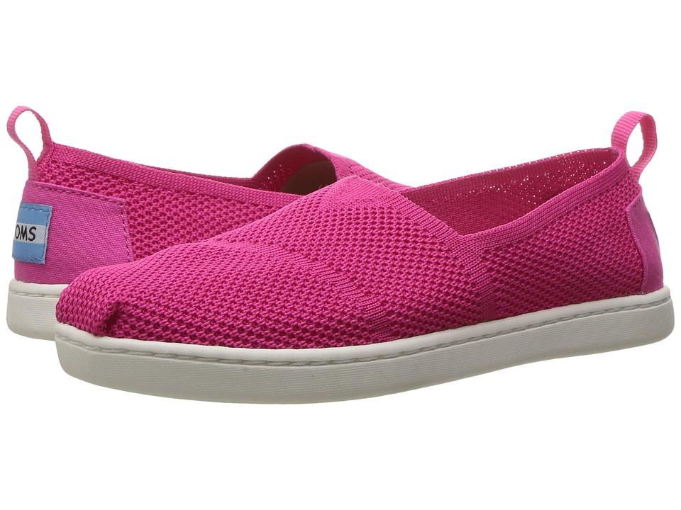 TOMS Kids - Knit Alpargata Espadrille (Little Kid/Big Kid) (Fuchsia Mesh) Girls Shoes