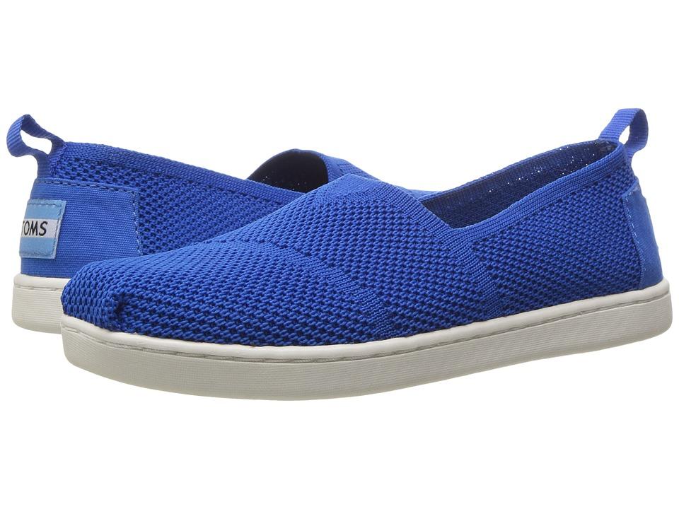TOMS Kids Knit Alpargata Espadrille (Little Kid/Big Kid) (Cobalt Mesh) Girls Shoes