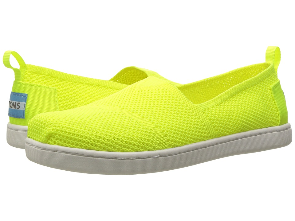 TOMS Kids - Knit Alpargata Espadrille (Little Kid/Big Kid) (Neon Yellow Mesh) Girls Shoes