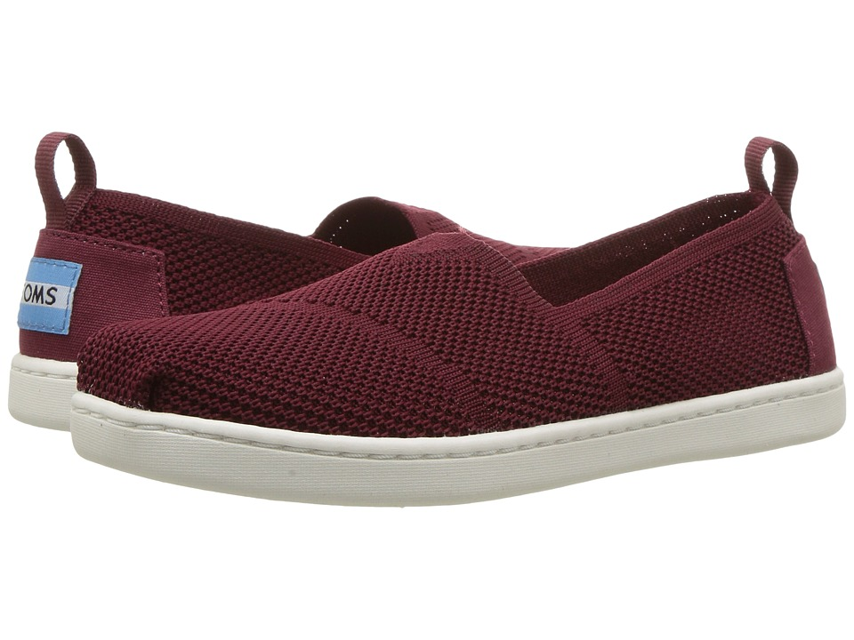 TOMS Kids - Knit Alpargata Espadrille (Little Kid/Big Kid) (Burgundy Mesh) Girls Shoes