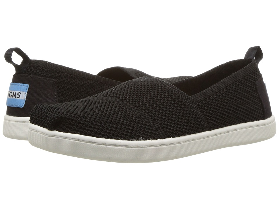 TOMS Kids Knit Alpargata Espadrille (Little Kid/Big Kid) (Black Mesh) Girls Shoes