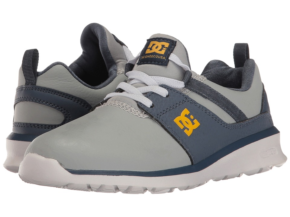 DC Kids - Heathrow SE (Little Kid/Big Kid) (Blue/Grey) Boys Shoes