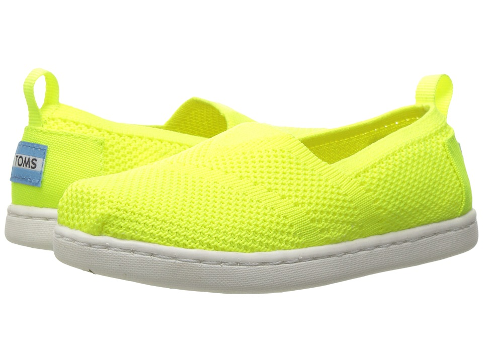 TOMS Kids - Knit Alpargata Espadrille (Infant/Toddler/Little Kid) (Neon Yellow Mesh) Girls Shoes