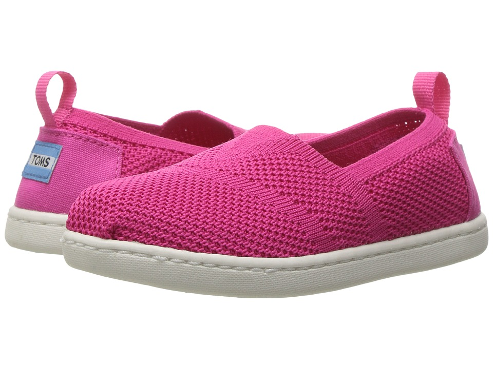TOMS Kids - Knit Alpargata Espadrille (Infant/Toddler/Little Kid) (Fuchsia Mesh) Girls Shoes