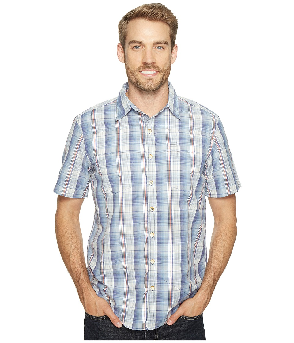 Ecoths - Carrington Short Sleeve Shirt (Coastal Fjord) Men's Short Sleeve Button Up
