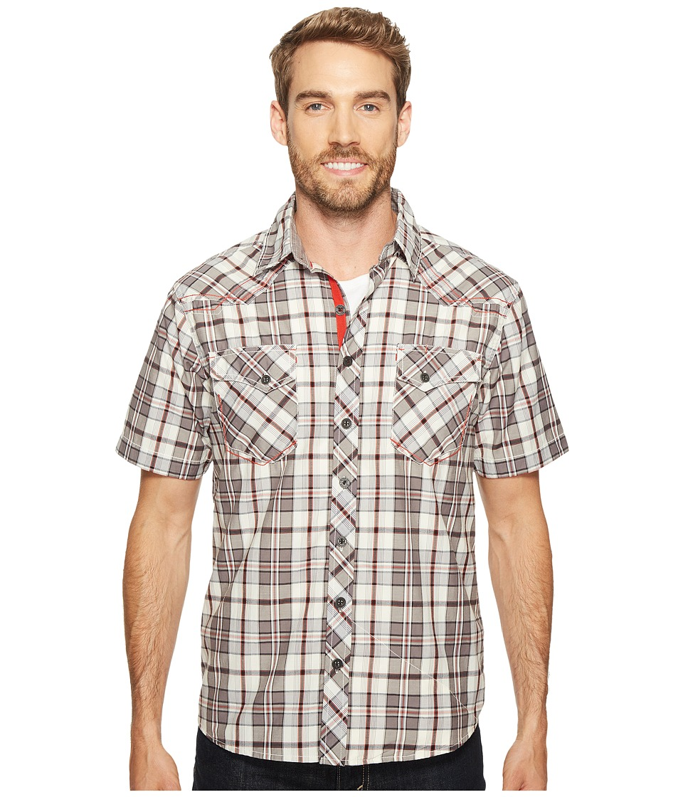 Ecoths - Rowan Short Sleeve Shirt (Smoked Pearl) Men's Short Sleeve Button Up