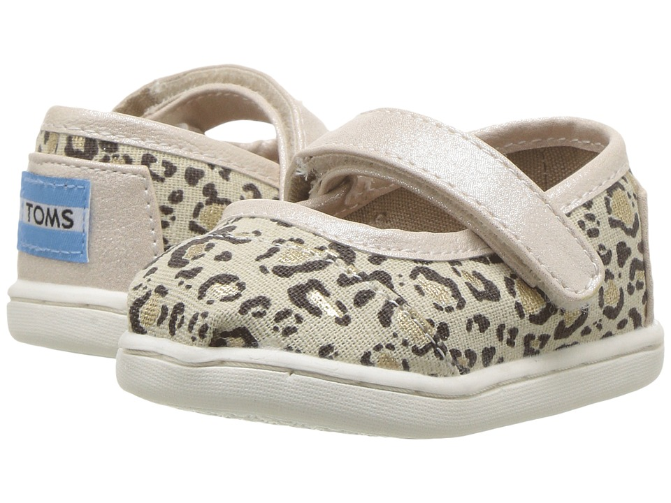 TOMS Kids - Mary Jane Flat (Infant/Toddler/Little Kid) (Natural Bob Cat) Girls Shoes