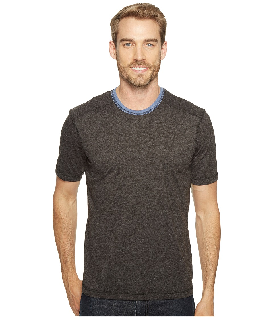 Ecoths - Asher Short Sleeve Shirt (Phantom) Men's Short Sleeve Knit