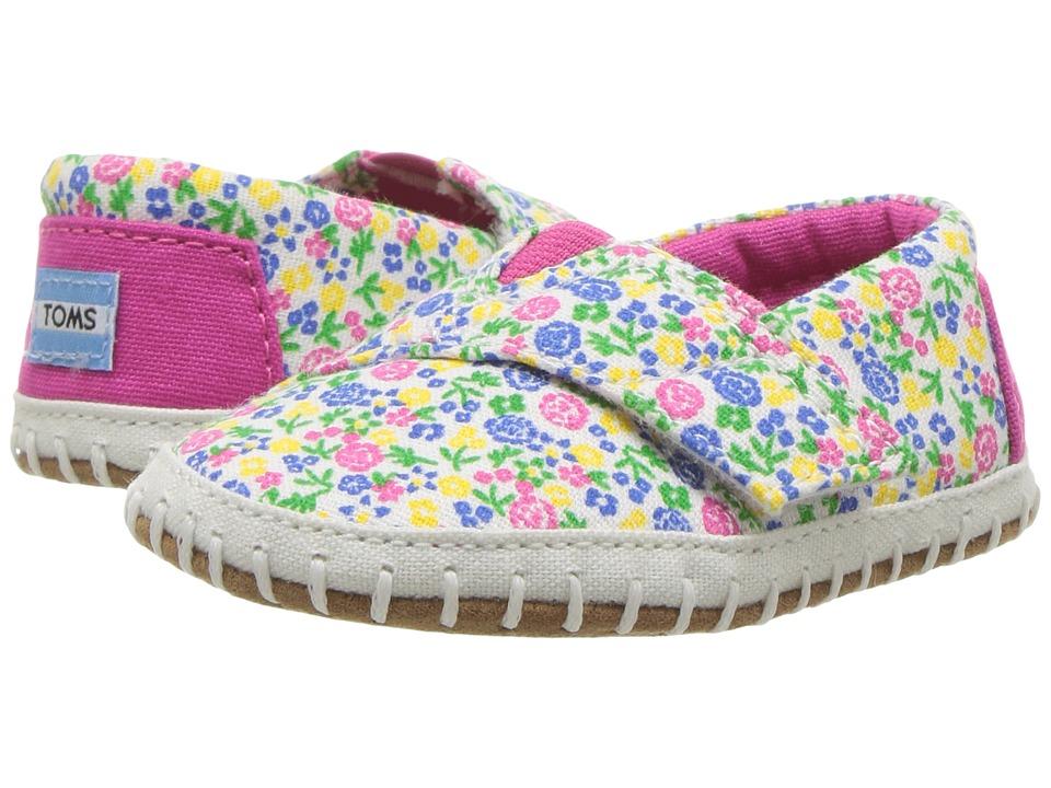 TOMS Kids - Alpargata Layette (Infant/Toddler) (Fuchsia Multi Floral) Girls Shoes