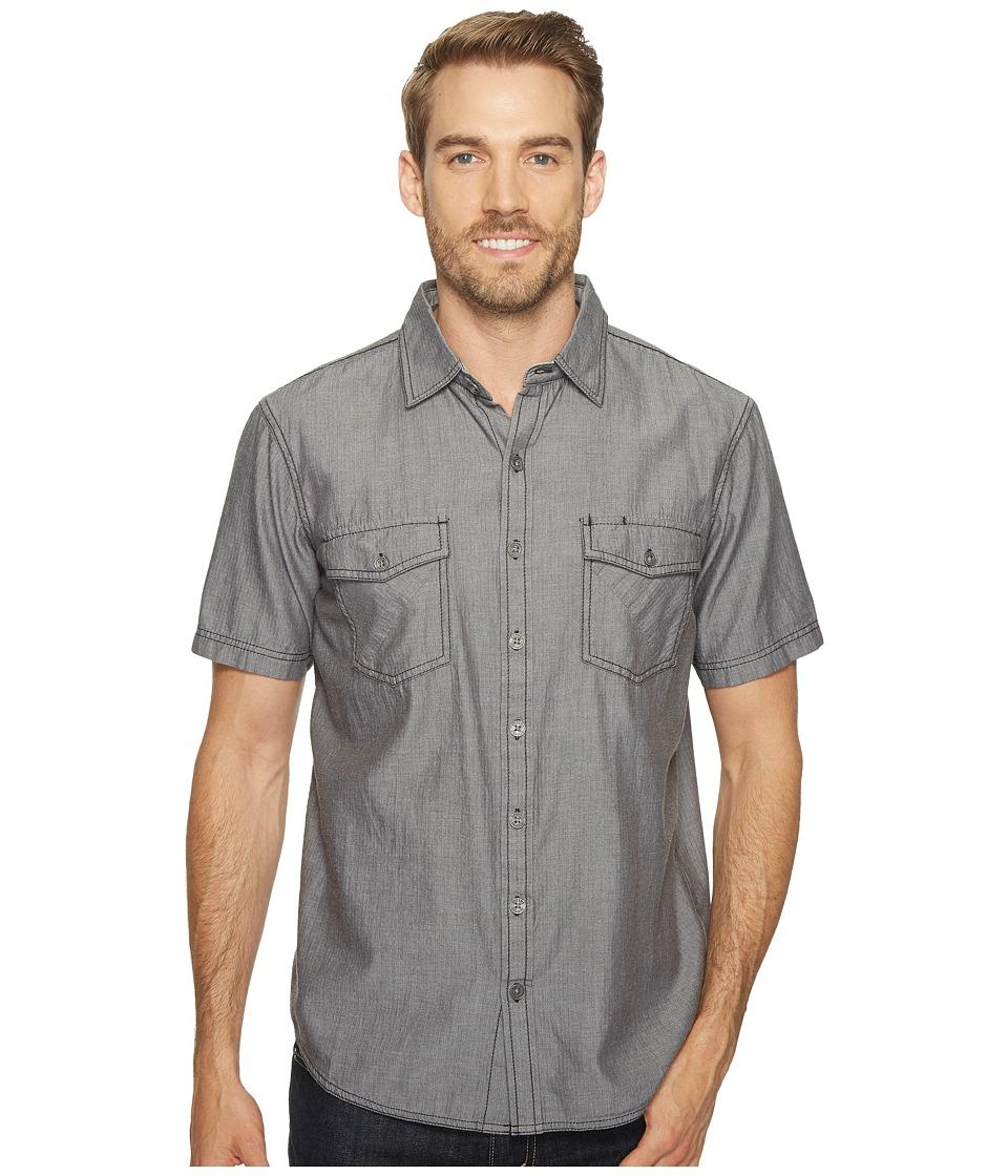 Ecoths - Mathis Short Sleeve Shirt (Phantom) Men's Short Sleeve Button Up