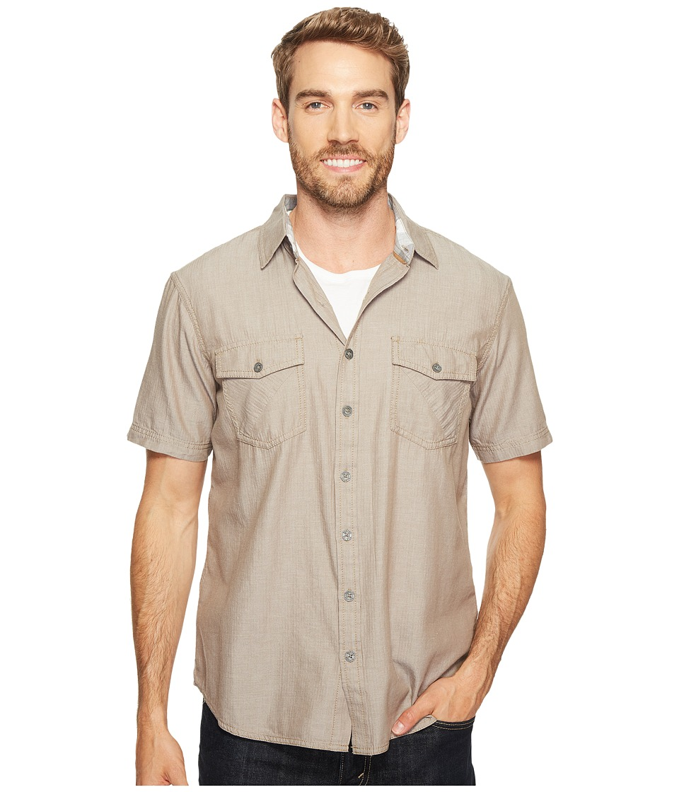 Ecoths - Mathis Short Sleeve Shirt (Brindle) Men's Short Sleeve Button Up