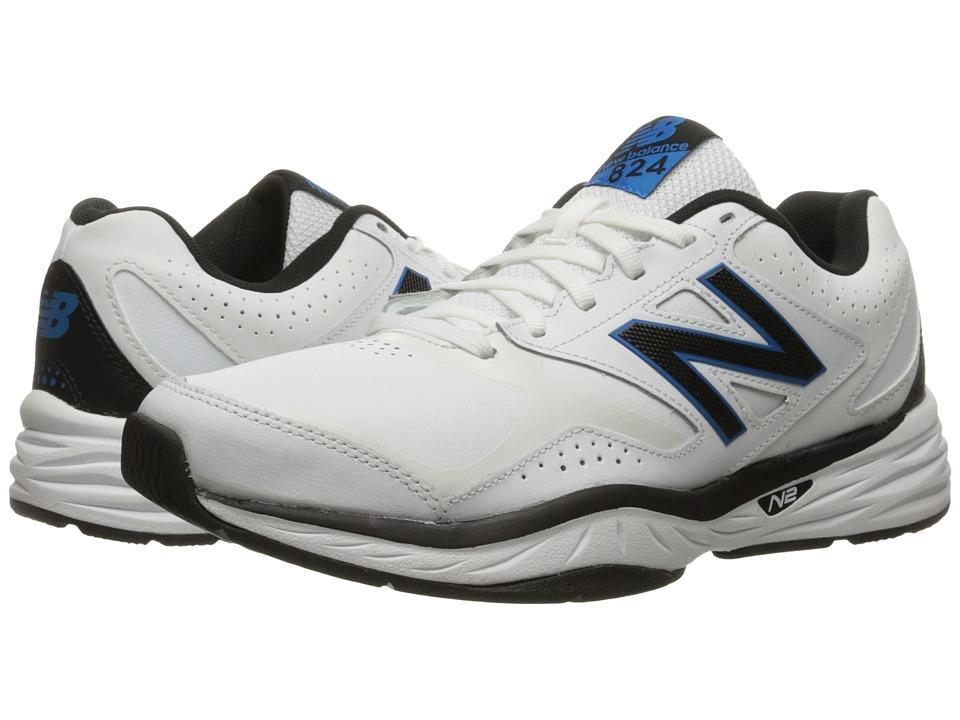 New Balance - MX824v1 (White/Placid Blue) Men's Running Shoes