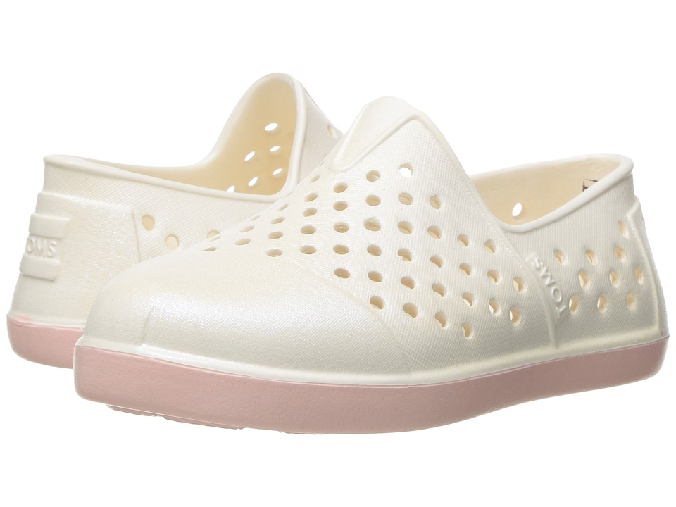 TOMS Kids - Romper Slip-On (Toddler/Little Kid) (Light Pink Pearl) Girls Shoes
