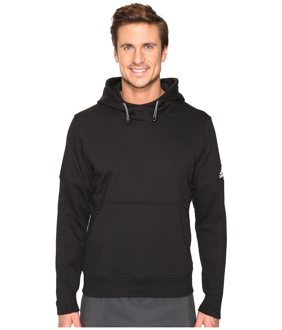 adidas - Sport ID French Terry Pullover Hoodie (Black) Men's Long Sleeve Pullover