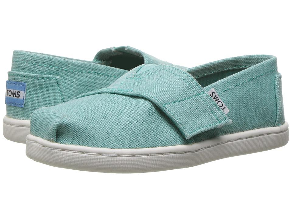 TOMS Kids - Seasonal Classics (Infant/Toddler/Little Kid) (Turquoise Coated Linen) Girls Shoes