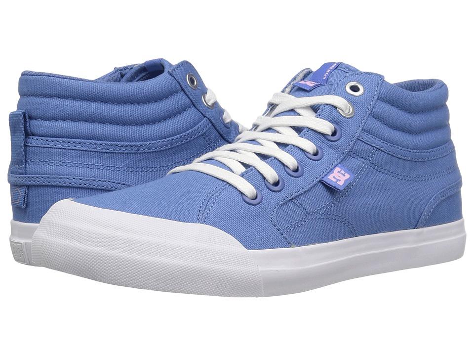 DC Kids Evan Hi TX (Little Kid/Big Kid) (Blue/White) Girls Shoes