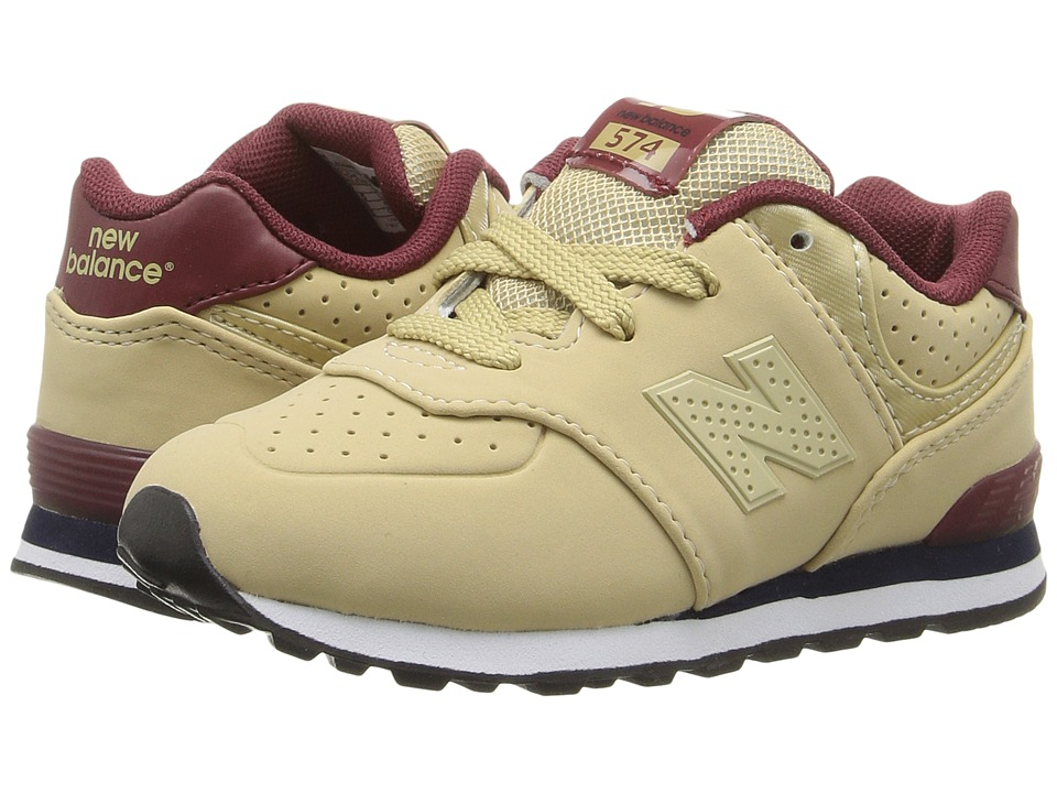 New Balance Kids KL574 (Infant/Toddler) (Tan/Red) Boys Shoes
