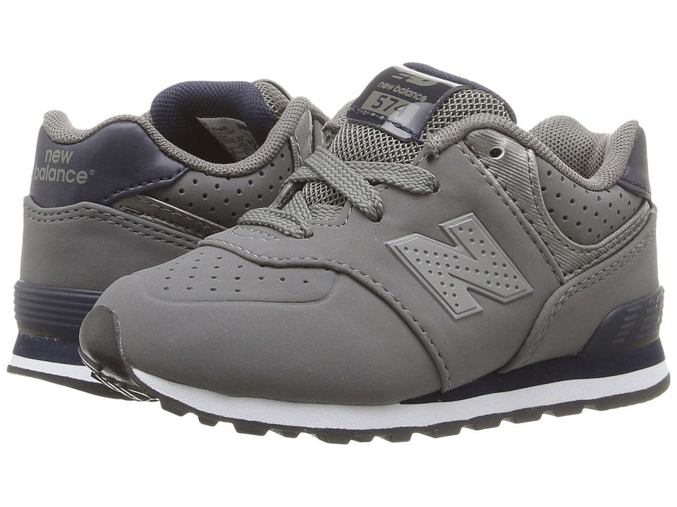 New Balance Kids - KL574 (Infant/Toddler) (Grey/Blue) Boys Shoes