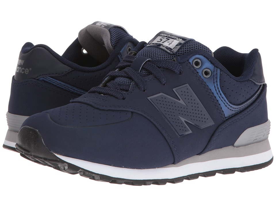 New Balance Kids KL574 (Little Kid) (Blue/Grey) Boys Shoes