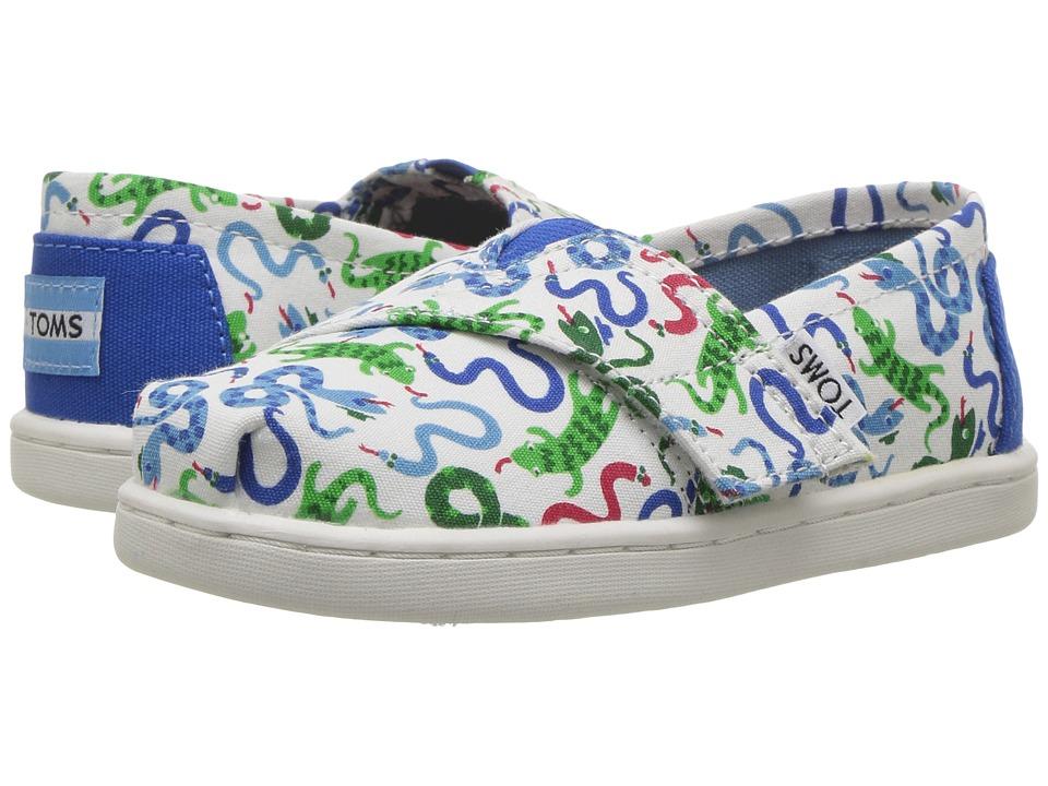 TOMS Kids - Seasonal Classics (Infant/Toddler/Little Kid) (Cobalt Snakes) Boys Shoes