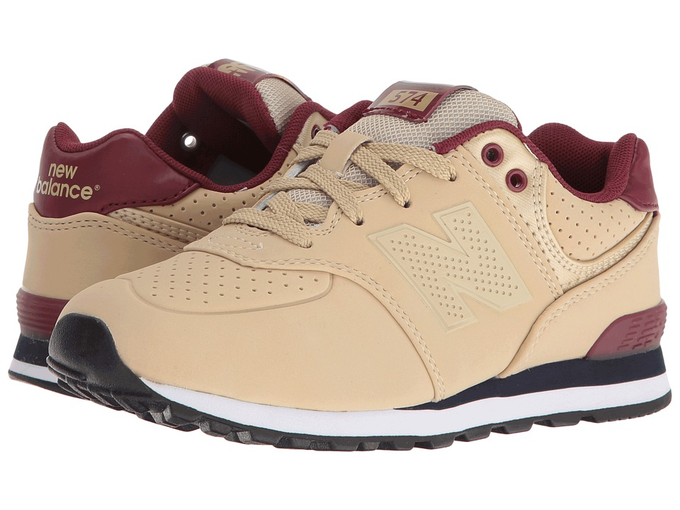 New Balance Kids KL574 (Little Kid) (Tan/Red) Boys Shoes