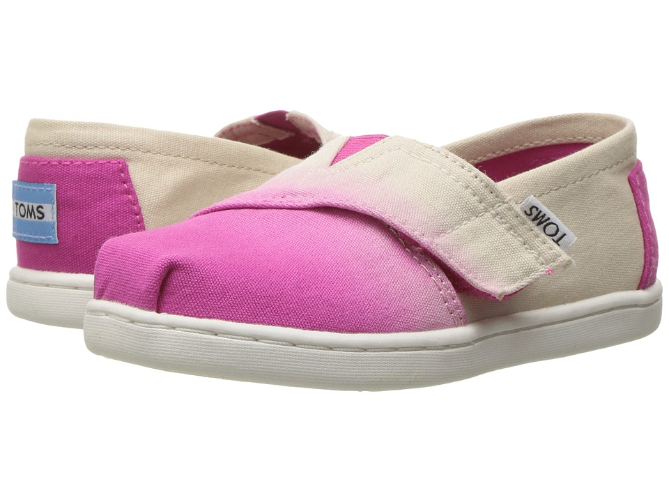 TOMS Kids - Seasonal Classics (Infant/Toddler/Little Kid) (Fuchsia Dip Dye) Girls Shoes