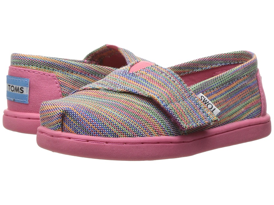 TOMS Kids - Seasonal Classics (Infant/Toddler/Little Kid) (Blue Aster Multi Space Dye) Girls Shoes