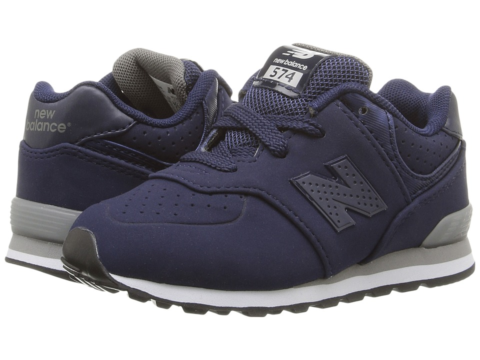 New Balance Kids KL574 (Infant/Toddler) (Blue/Grey 1) Boys Shoes