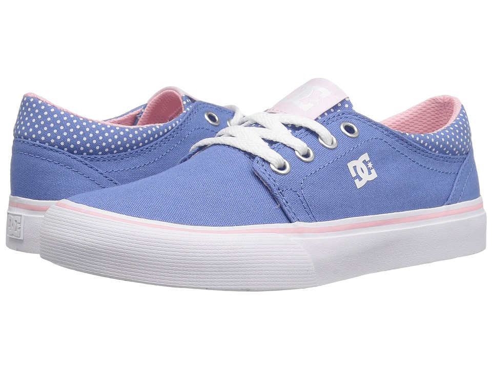 DC Kids Trase TX SE (Little Kid/Big Kid) (Blue/White Print) Girls Shoes