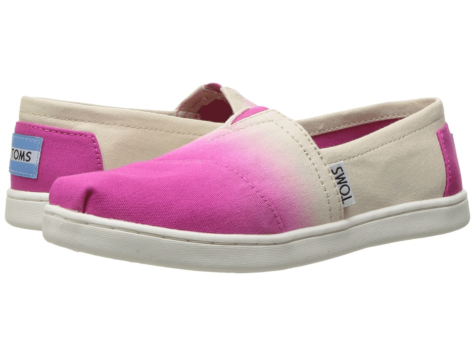TOMS Kids - Seasonal Classics (Little Kid/Big Kid) (Fuchsia Dip-Dye) Girls Shoes