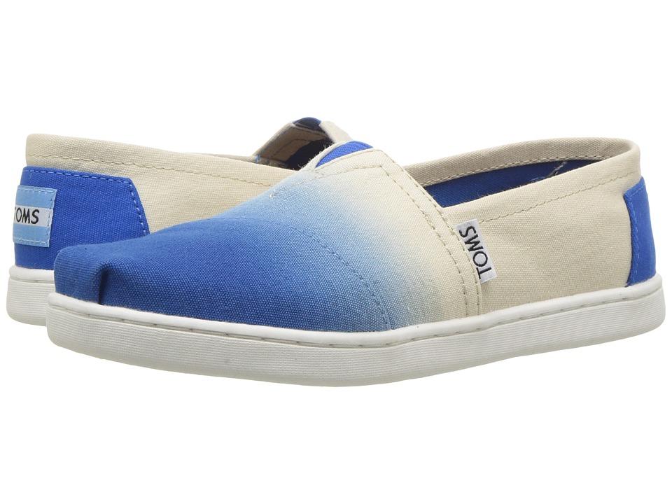 TOMS Kids - Seasonal Classics (Little Kid/Big Kid) (Cobalt Dip-Dye) Girls Shoes