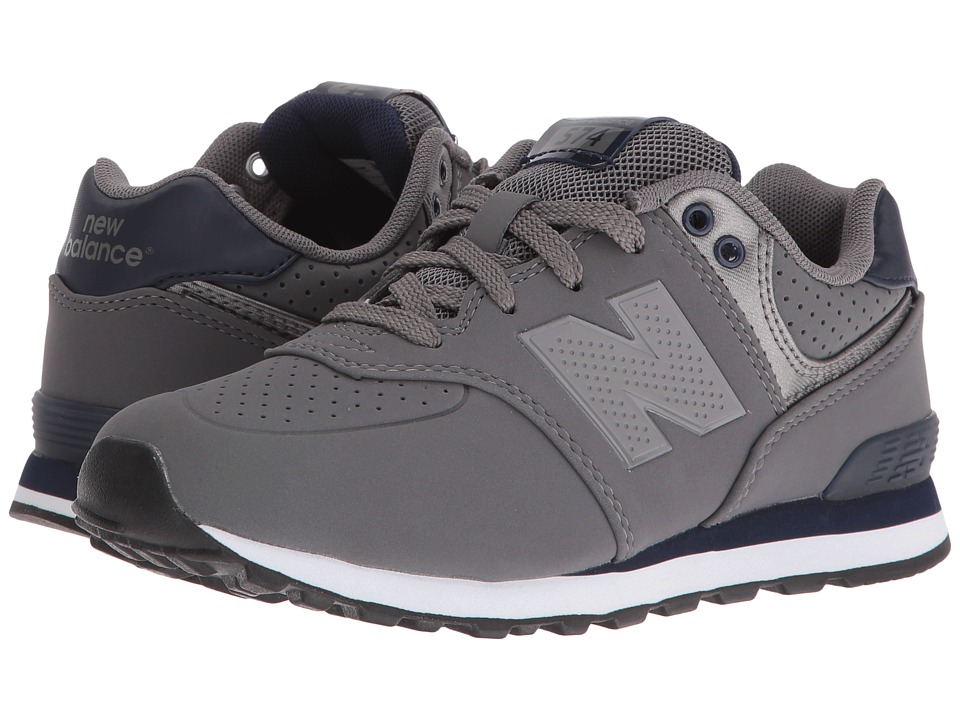 New Balance Kids - KL574 (Little Kid) (Grey/Blue 1) Boys Shoes