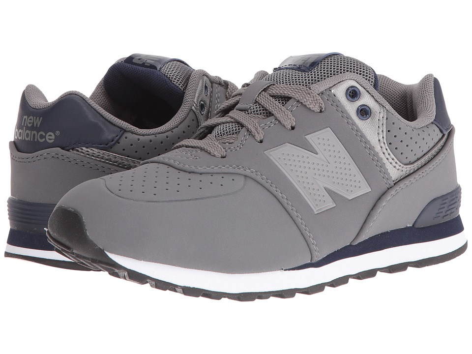 New Balance Kids - KL574 (Big Kid) (Grey/Blue 1) Boys Shoes