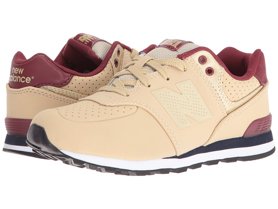 New Balance Kids KL574 (Big Kid) (Tan/Red) Boys Shoes
