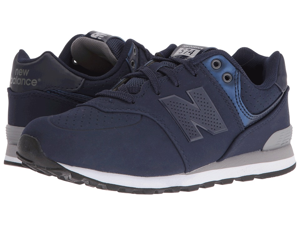 New Balance Kids - KL574 (Big Kid) (Blue/Grey 1) Boys Shoes