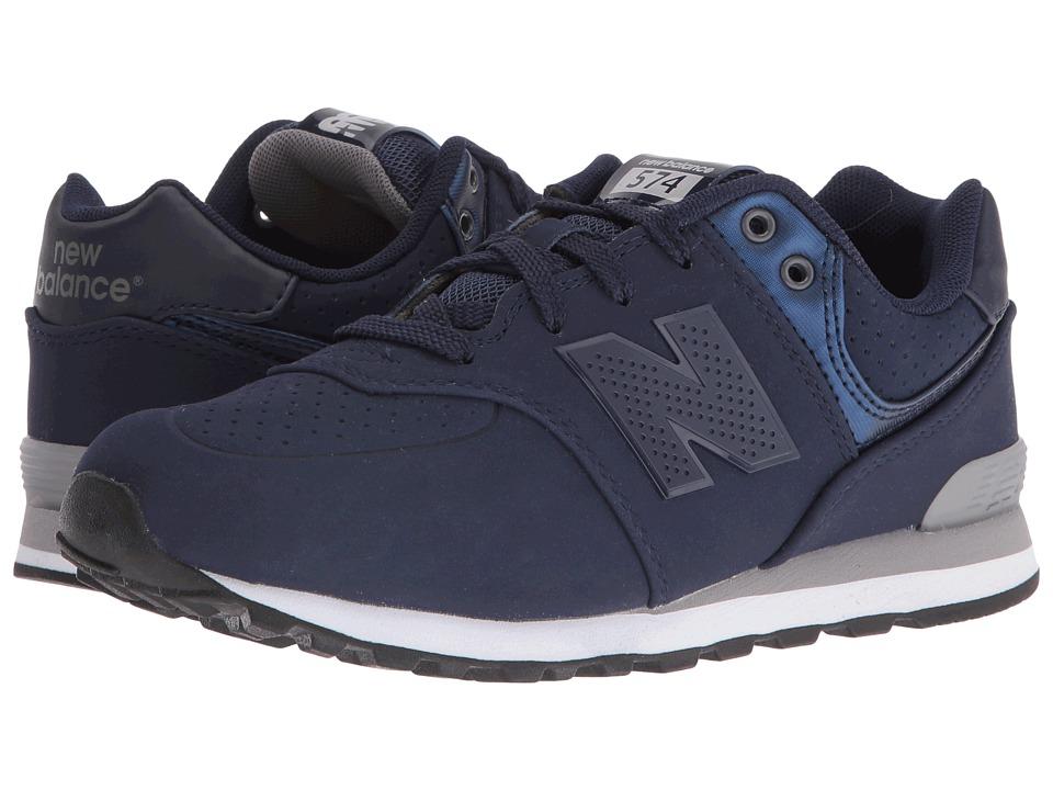 New Balance Kids - KL574 (Big Kid) (Blue/Grey 1) Boys Shoes