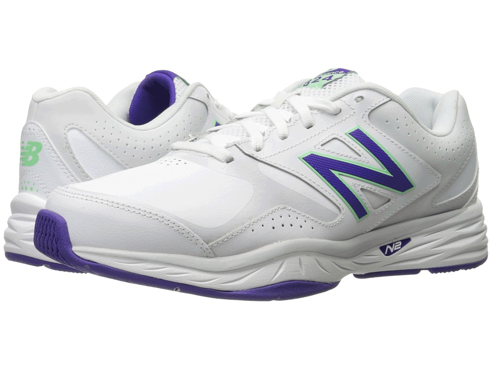 New Balance - WX824v1 (White/Deep Violet) Women's Running Shoes