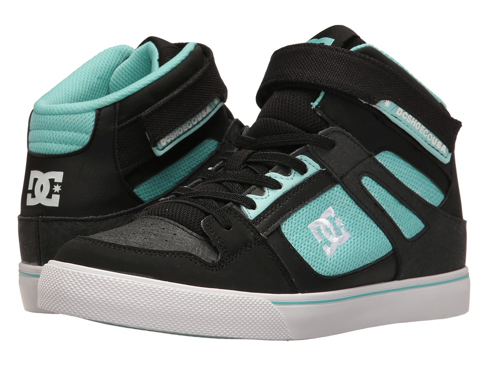 DC Kids - Spartan High EV (Little Kid/Big Kid) (Black/Aqua) Girls Shoes