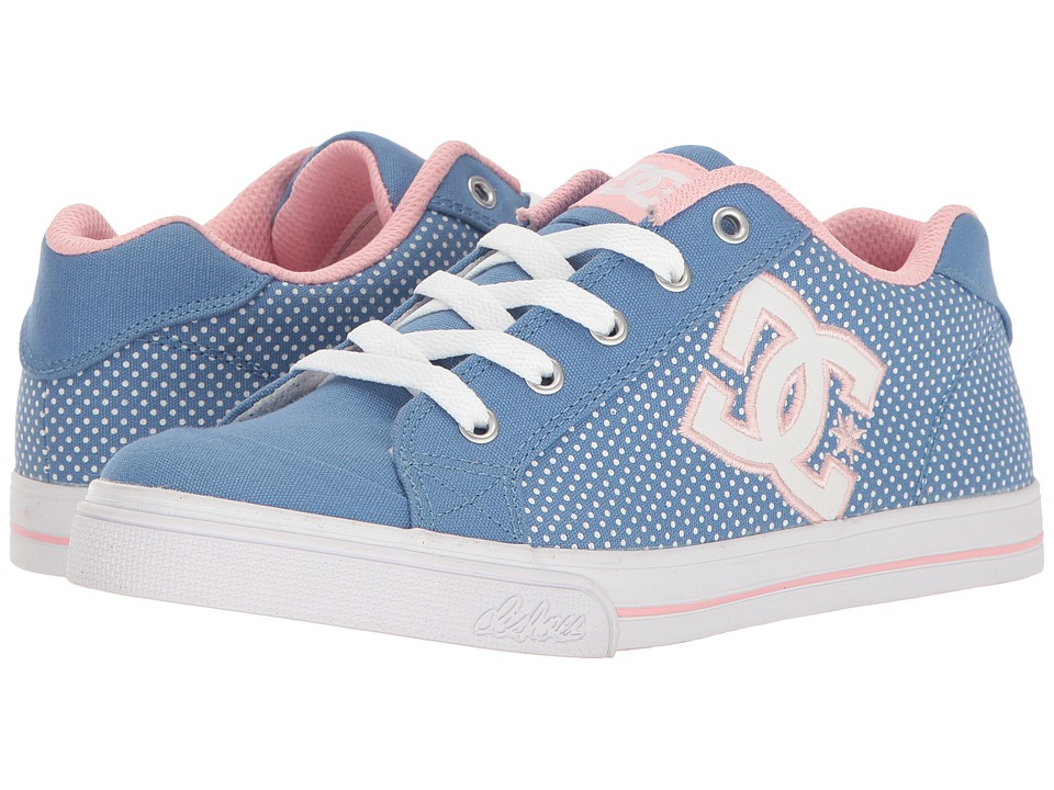 DC Kids - Chelsea TX SE (Little Kid/Big Kid) (Blue/White Print) Girls Shoes