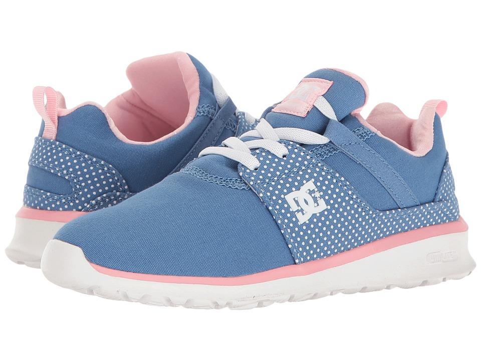 DC Kids - Heathrow SP (Little Kid/Big Kid) (Blue/White Print) Girls Shoes