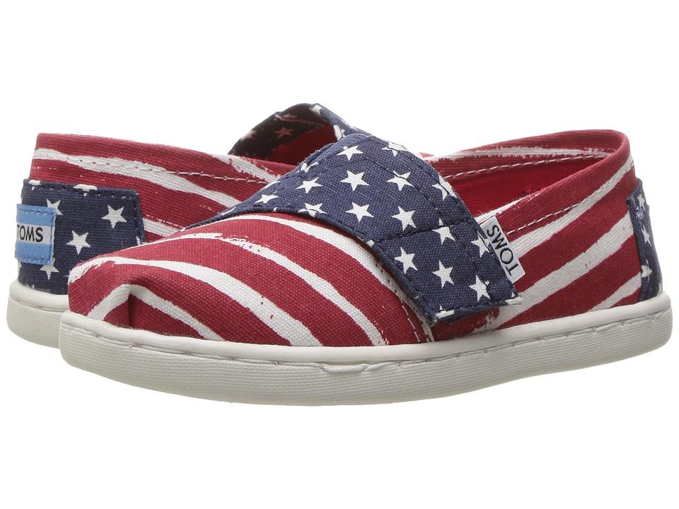 TOMS Kids - Seasonal Classics (Infant/Toddler/Little Kid) (Red/Navy Americana) Kids Shoes