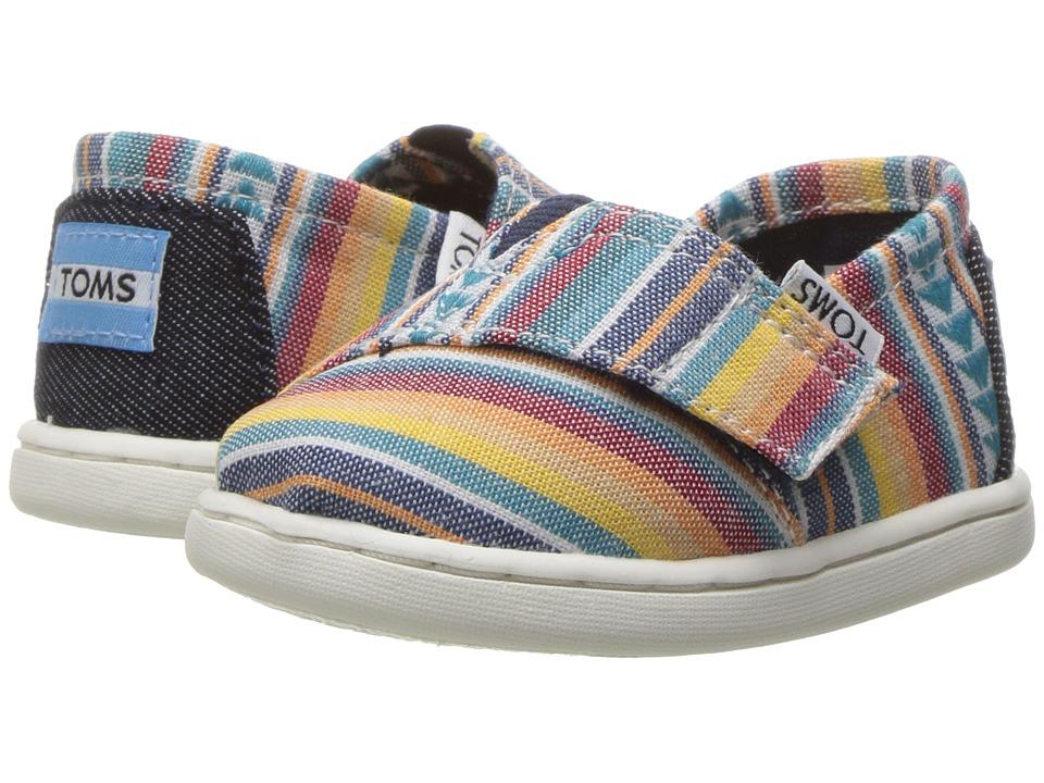 TOMS Kids - Seasonal Classics (Infant/Toddler/Little Kid) (Multi Blanket Stripe) Kids Shoes